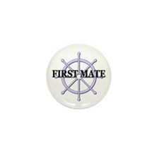 First Mate Ship Wheel Mini Button (10 pack)