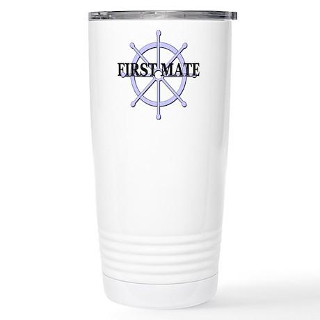 First Mate Ship Wheel Stainless Steel Travel Mug