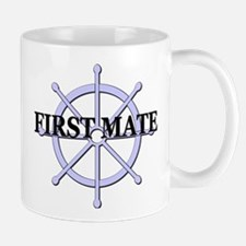 First Mate Ship Wheel Mug