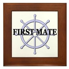 First Mate Ship Wheel Framed Tile