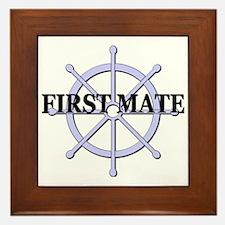 First Mate Ship Wheel Framed Tile