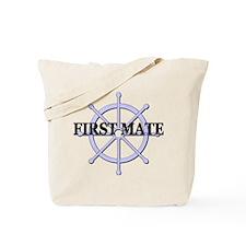 First Mate Ship Wheel Tote Bag