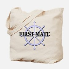 First Mate Ship Wheel Tote Bag