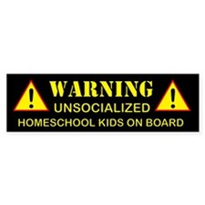 2-warning-black Bumper Bumper Sticker