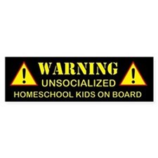 Unsocialized Bumper Sticker (Black)