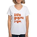 beats rhymes life Women's V-Neck T-Shirt