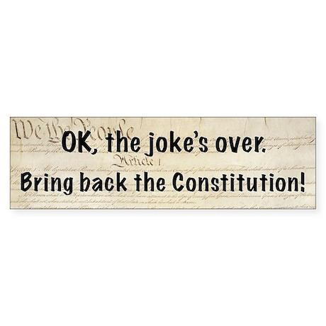 Bring Back the Constitution Bumper Sticker