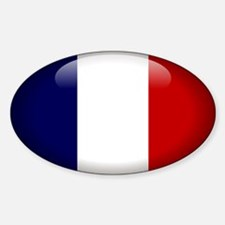 France Oval Decal