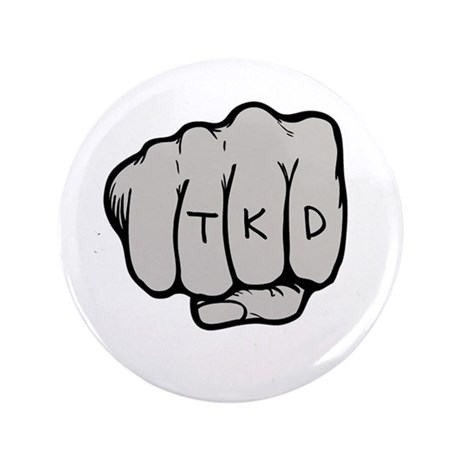 "TKD Fist 3.5"" Button (100 pack)"