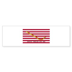Naval Jack Flag - Don't Tread Bumper Sticker