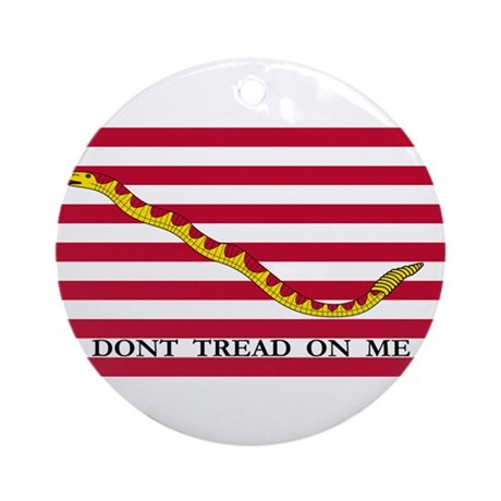 Naval Jack Flag - Don't Tread Ornament (Round)