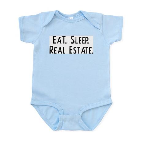 Eat, Sleep, Real Estate Infant Creeper