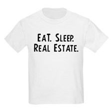 Eat, Sleep, Real Estate Kids T-Shirt