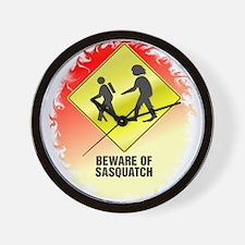 Sasquatch Wall Clock