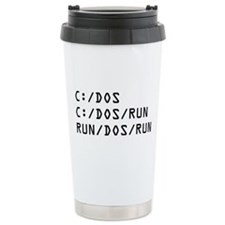 C DOS RUN Travel Mug
