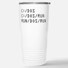 C DOS RUN Travel Mug