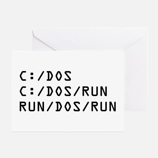 C DOS RUN Greeting Card