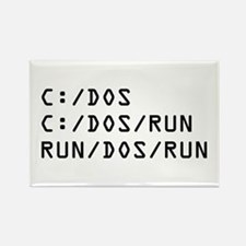 C DOS RUN Rectangle Magnet