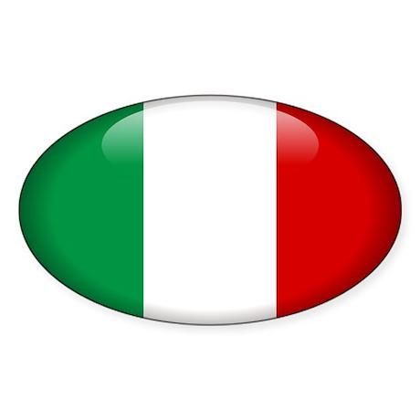 Italy Oval Sticker