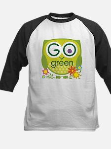 Go Green Owl Kids Baseball Jersey