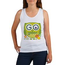Go Green Owl Women's Tank Top