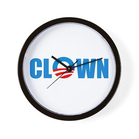 Anti Obama! Clown Wall Clock