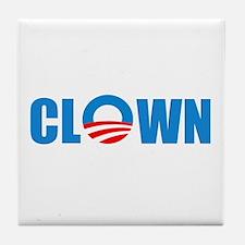 Anti Obama! Clown Tile Coaster