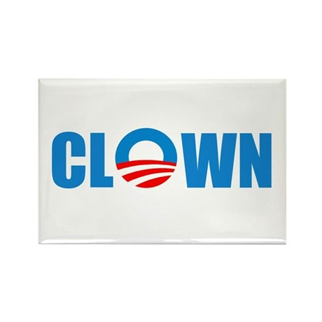 Anti Obama! Clown Rectangle Magnet (10 pack)