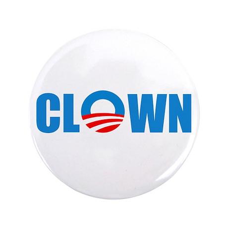 """Anti Obama! Clown 3.5"""" Button (100 pack)"""