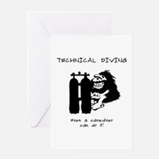 Technical Cave Diver Greeting Card