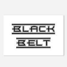 Bold Black Belt Postcards (Package of 8)