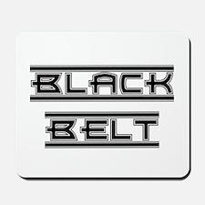 Bold Black Belt Mousepad