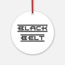 Bold Black Belt Ornament (Round)