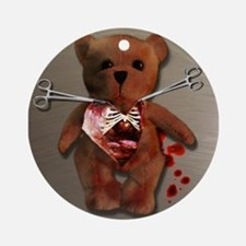 Autopsy of T. Bear Ornament (Round)