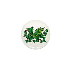 Green Dragon Mini Button
