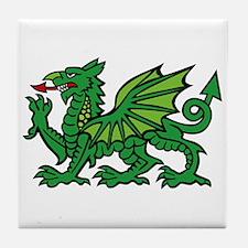 Green Dragon Tile Coaster