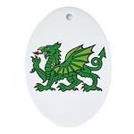 Green Dragon Oval Ornament