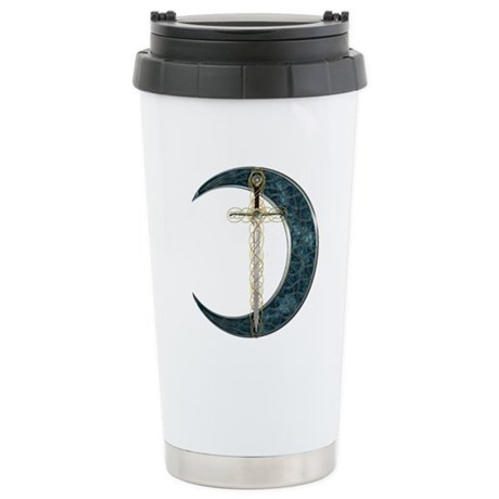 Colorful Celtic Moon and Swor Stainless Steel Trav