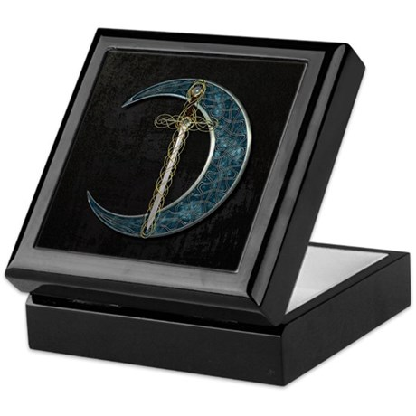 Colorful Celtic Moon and Swor Keepsake Box