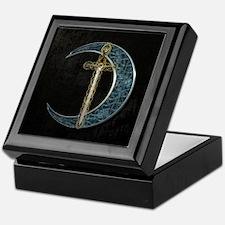 Colorful Celtic Moon and Swor Keepsake Box