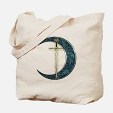 Colorful Celtic Moon and Swor Tote Bag