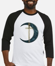 Colorful Celtic Moon and Swor Baseball Jersey