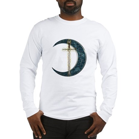 Colorful Celtic Moon and Swor Long Sleeve T-Shirt