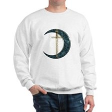 Colorful Celtic Moon and Swor Sweatshirt