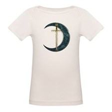 Colorful Celtic Moon and Swor Tee