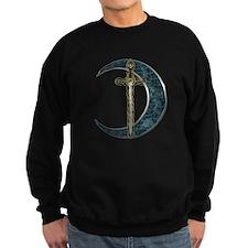 Colorful Celtic Moon and Swor Sweatshirt