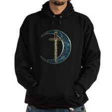 Colorful Celtic Moon and Swor Hoodie