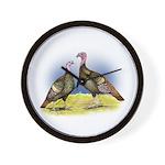 Rio Grande Wild Turkeys Wall Clock