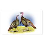 Rio Grande Wild Turkeys Rectangle Sticker