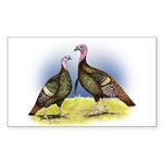Rio Grande Wild Turkeys Rectangle Sticker 10 pk)